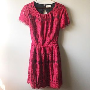 Altar'd State Red Lace Dress
